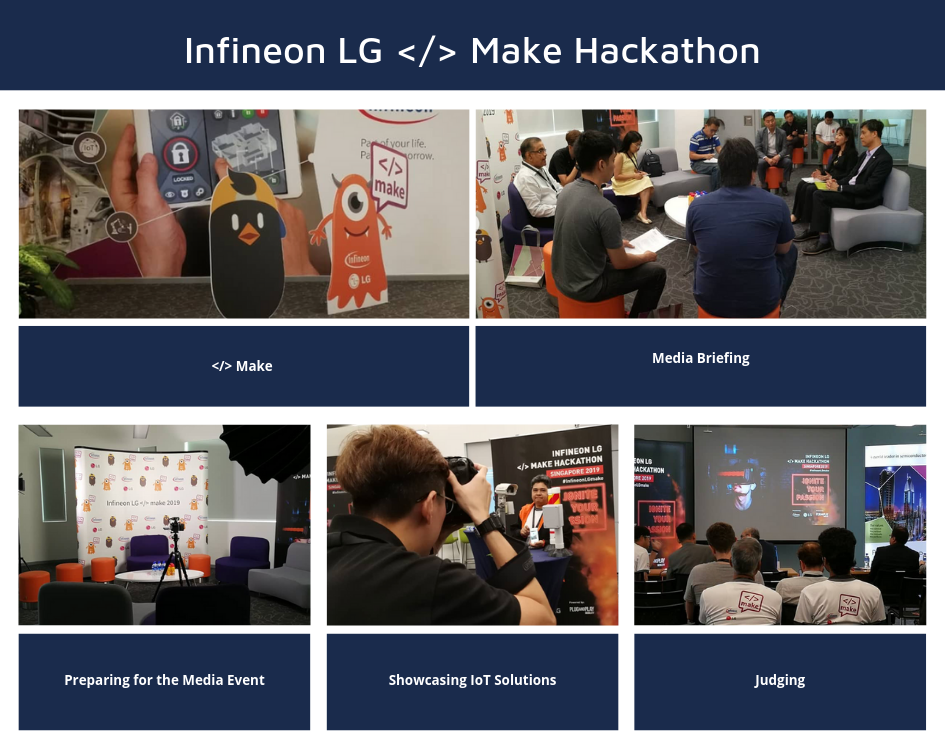Infineon LG <> Make Hackathon Media Event