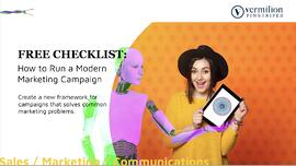 FREE marketing campaign checklist by Vermilion Pinstripes