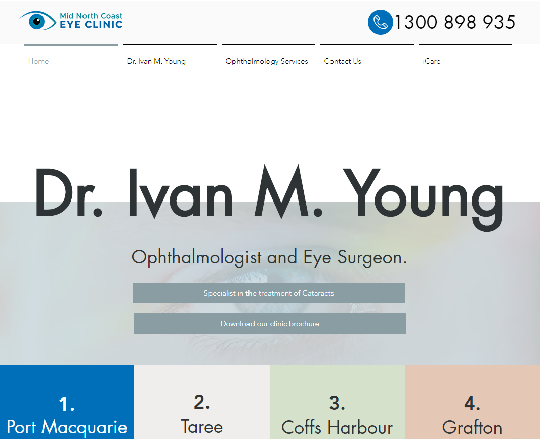 Mid North Coast Eye Clinic Website Redesign