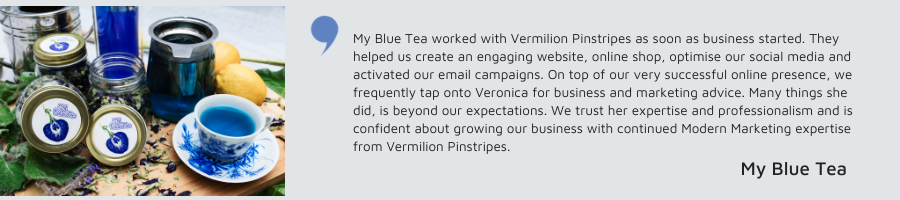 SMALL BUSINESS MARKETING - Testimonial from My Blue Tea
