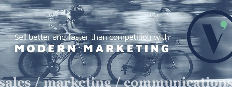 Modern Marketing helps you sell better and faster than competition, Vermilion Pinstripes