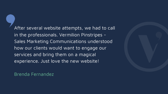 TESTIMONIALS clients for Vermilion Pinstripes