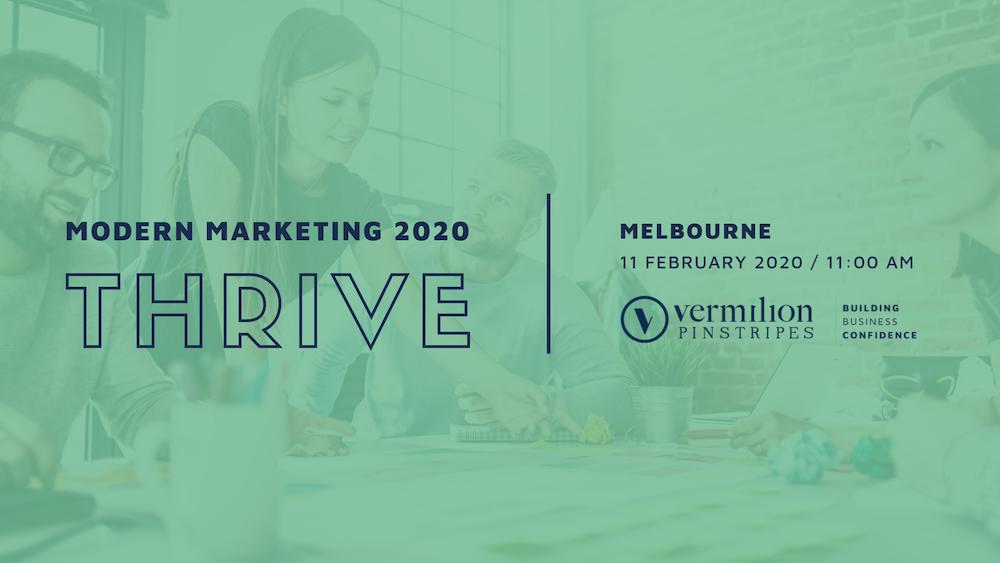 THRIVE MELBOURNE MODERN MARKETING 2020-1