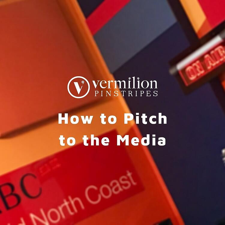 How to pitch to the media webinar by Vermilion Pinstripes