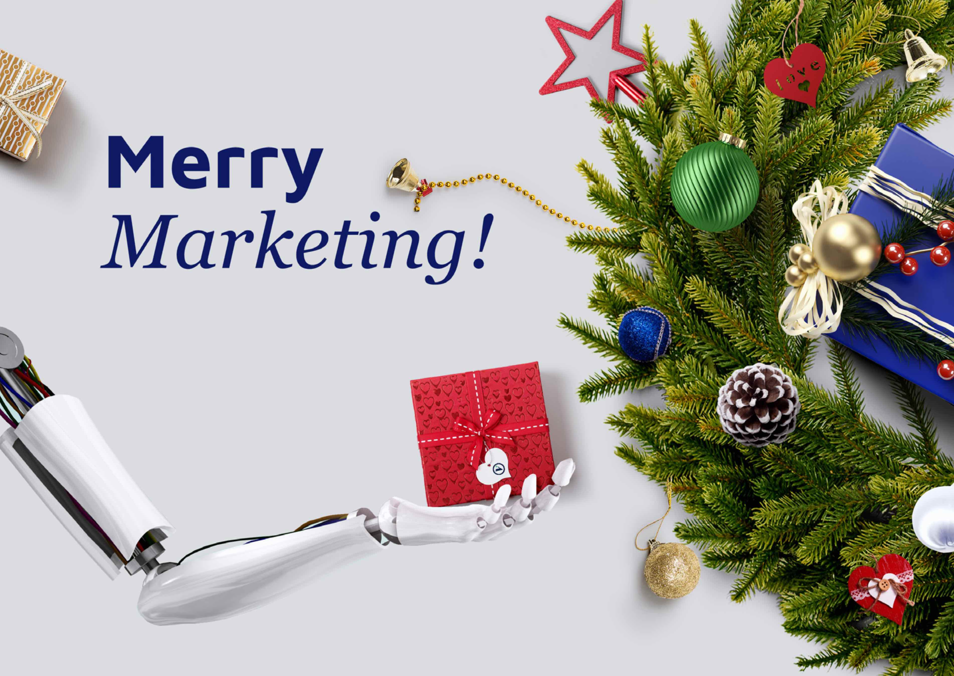 Merry Marketing - Holiday Greetings from Vermilion Pinstripes Modern Marketing team