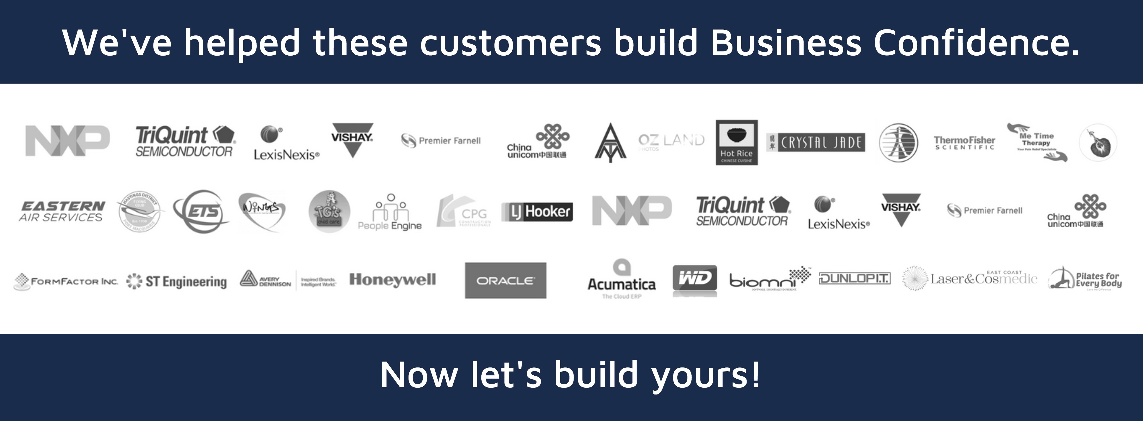 We helped these companies build business confidence. Now let's build yours. Vermilion Pinstripes Sales Marketing Communications Port Macquarie Australia and Singapore.jpg